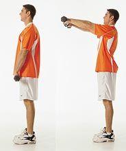 Exercício para ombros elevação frontal