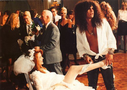 Slash Marries His First Wife Renee Guns N Roses Wives