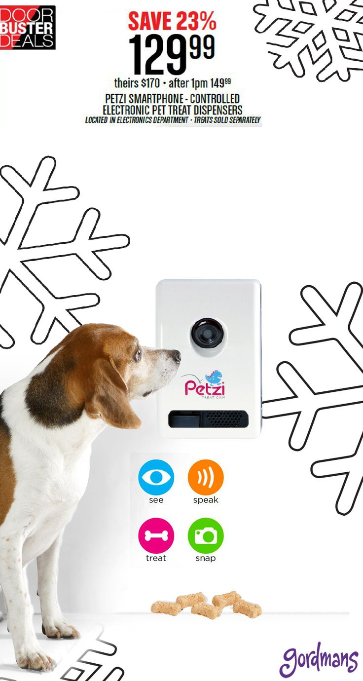 Give your pet the best gift of the Christmas season! Petzi, smartphone-controlled pet treat dispenser is just that! Check it out online now in our Black Friday ad!