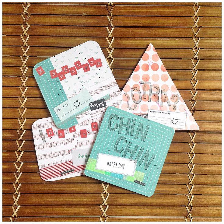 Posavasos alterados con @scraperalimonera #scrapbooking #diy #coasters #homedecor