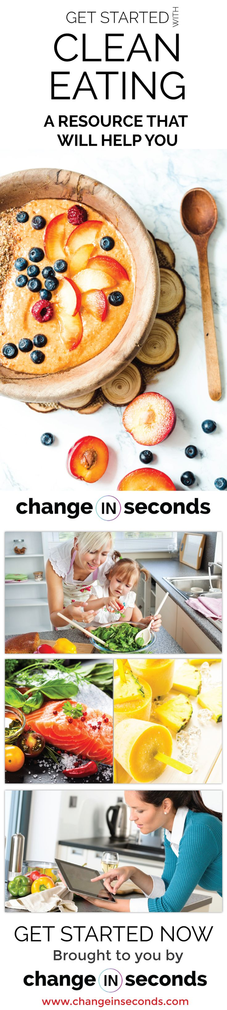 Clean Eating For Beginners Resource http://www.changeinseconds.com/clean-eating-for-beginners-resource/ #cleaneating
