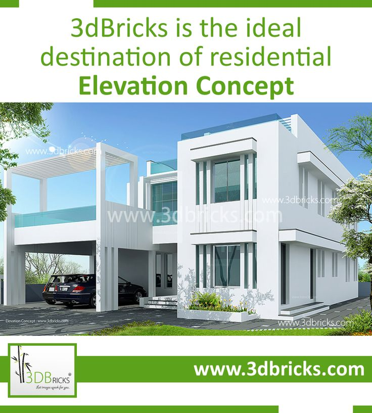 Elevation Concept that fits for your Residence -   You simply choose the residential style that fits your personality, and we'll take care of the rest.  •Minimalist Elevation •Contemporary Elevation •Classic Elevation  Click here to know more: http://www.3dbricks.com/services-residential.php  #Elevation #Kerala #Builder #Architect