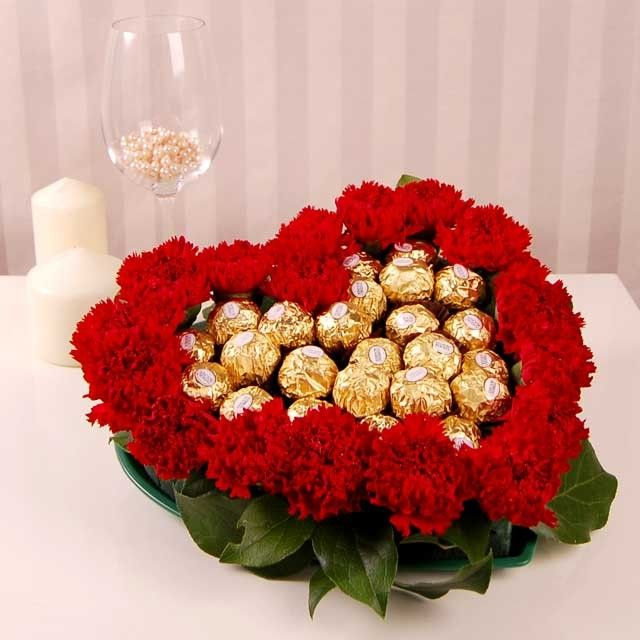 flowers and chocolate for valentine's