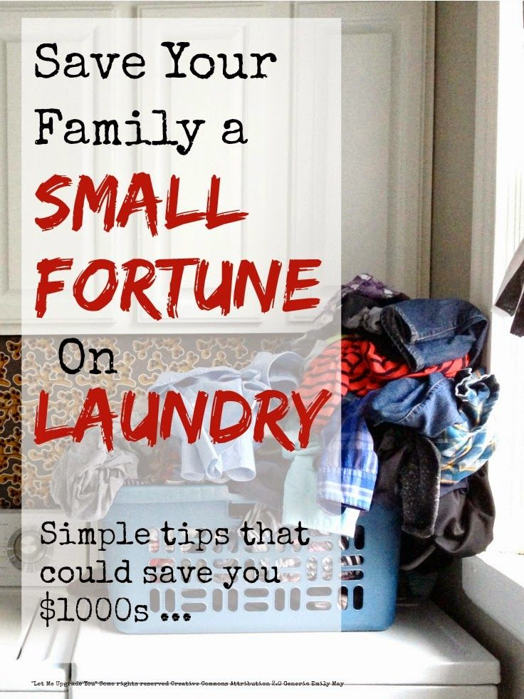 Save your family a small fortune on #laundry with these simple #thrifty #moneysaving tips ...