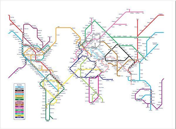 Mapa del metro, del mundo, del metro del mundo...