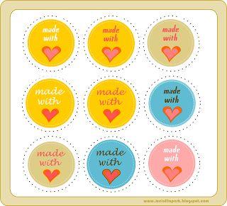 free printable 'made with love' tags – circle gift tags – 'Made with Love' Etiketten-Kärtchen – kostenlos ausdruckbar – freebie | MeinLilaPark – digital freebies