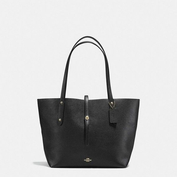 Coach Market Tote ($295) ❤ liked on Polyvore featuring bags, handbags, tote bags, leather purses, leather tote purse, coach tote bags, tote handbags and handbag tote