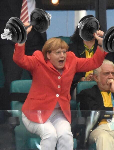 Hantela Merkel. #wm2014 #gerpol