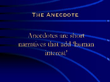 anecdotal essay definition In the poem anecdote of a jar by wallace stevens, we see how the poet uses confusion to portray the connection between the human world and the natural world.