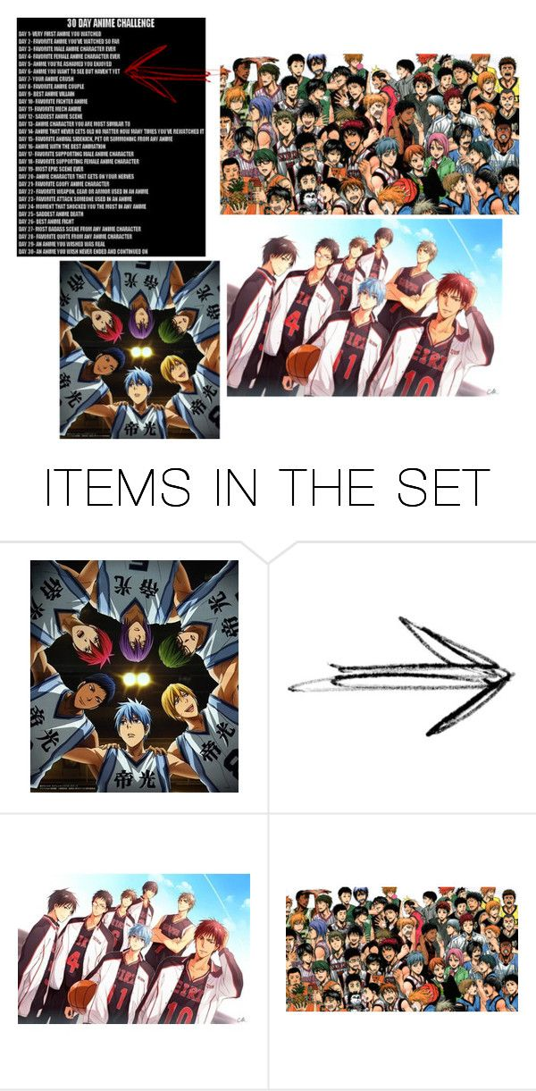 """""""30 Day Anime Challenge - Day 6 - Kuroko no basket"""" by brighteyes1708 ❤ liked on Polyvore featuring art, basketball, anime and 30DayAnimeChallenge"""