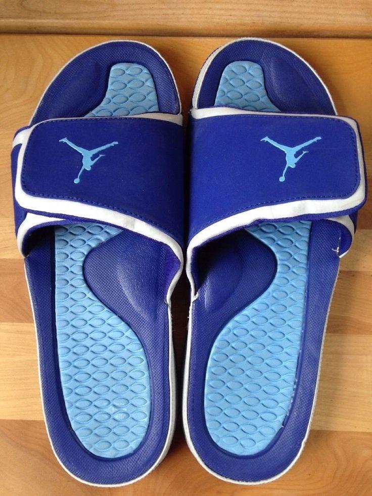 Nike Air Jordan Mens Blue Hydro Sandals Size 13 Velcro Slip on Water Shoe   eBay