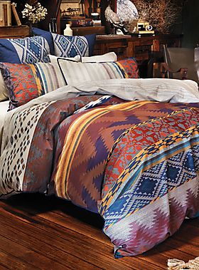 i can appreciate a tribal pattern. Just for a change of pace for the bed spread