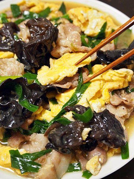 木クラゲと卵炒め