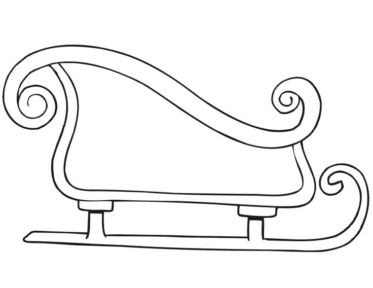 christmas sleigh coloring pages child coloring sleigh. Black Bedroom Furniture Sets. Home Design Ideas