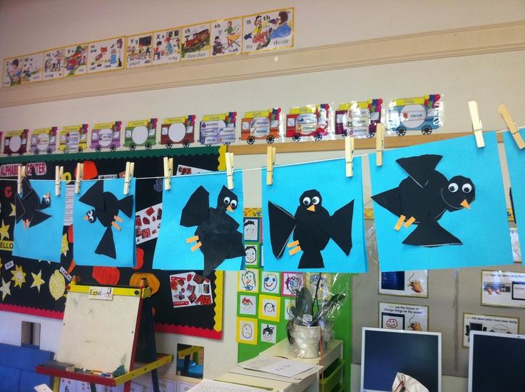 Autumn- Crows display.