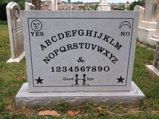 Grave marker for Elijah Bond, the inventor of the Ouija board: Baltimore, MD