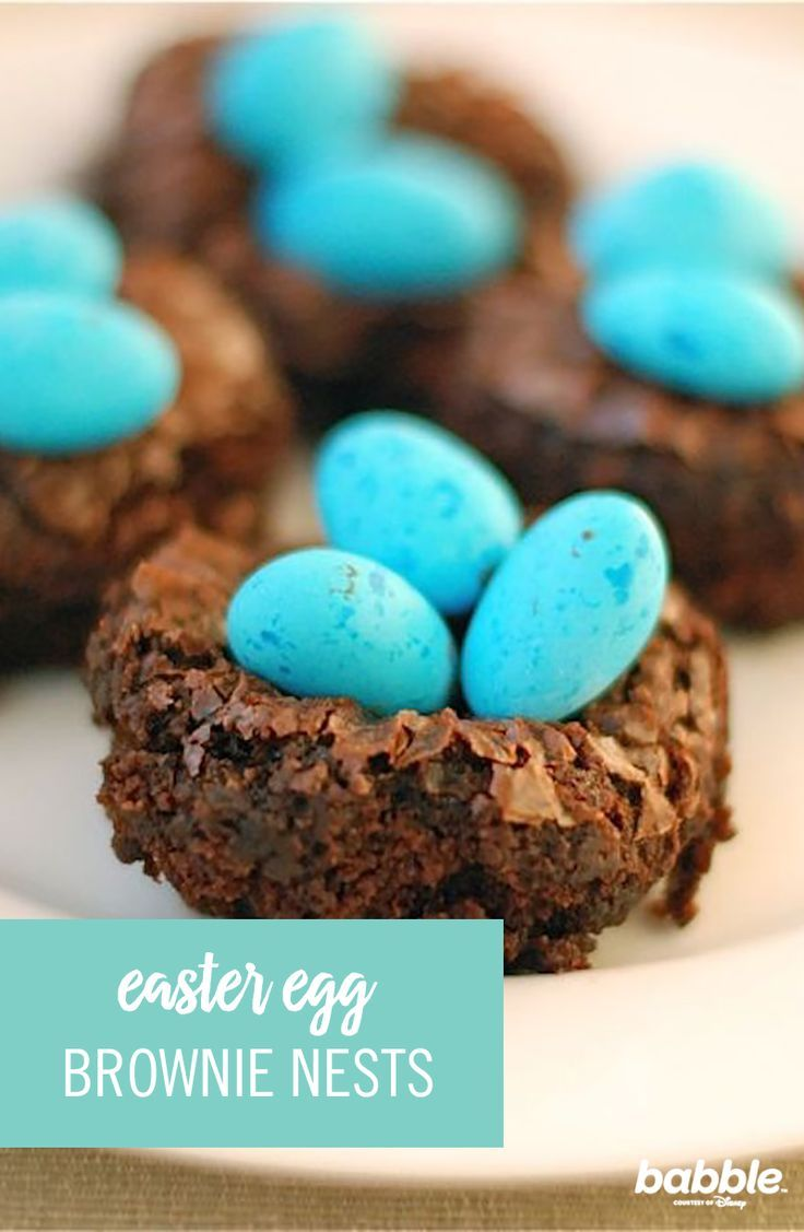 Easter is popping up all around us and we have a simple Easter dessert using eggs in brownie nests. To make these, turn a brownie recipe into brownie bites and settle candy Robins eggs into the center. They are simple and fun. Your entire family won't be able to resist the delicious taste of this treat. The kids will also have too much fun playing with the eggs. Click for the full Easter recipe.