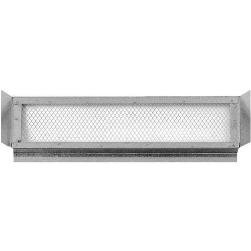Noll/Norwesco 5-1/2X22 Galv Eave Vent 556177 Unit: Each, Silver steel
