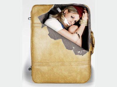 札束から白い粉まで、「運び屋」気分になれるリアルなスーツケース用ステッカー - GIGAZINE