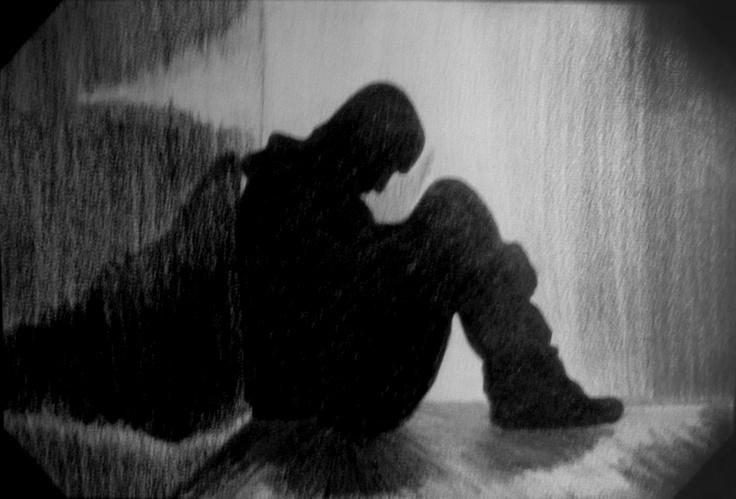 Dibujo: Representación de la Soledad. Hecho a Carboncillo.