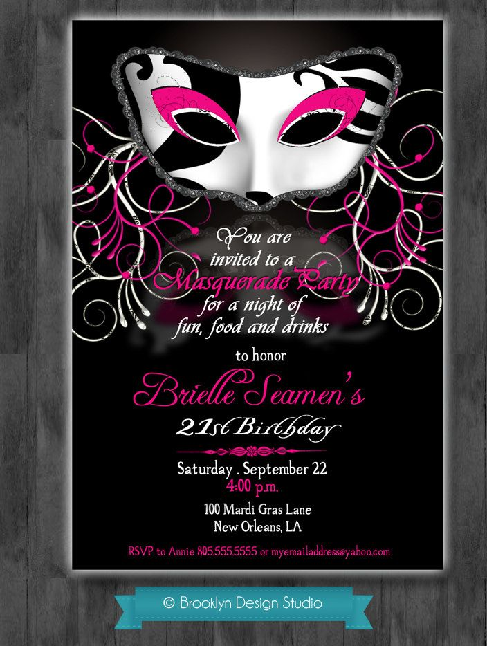 12 best Party Invitations images on Pinterest   Invites, Masquerade ...