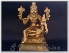 Lord Laxmi Narsimha Deity- 6 inch height Made in Solid Brass, Available in stock.