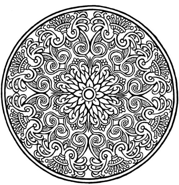 Coloring Pages Flower Mandela Image By Tharens