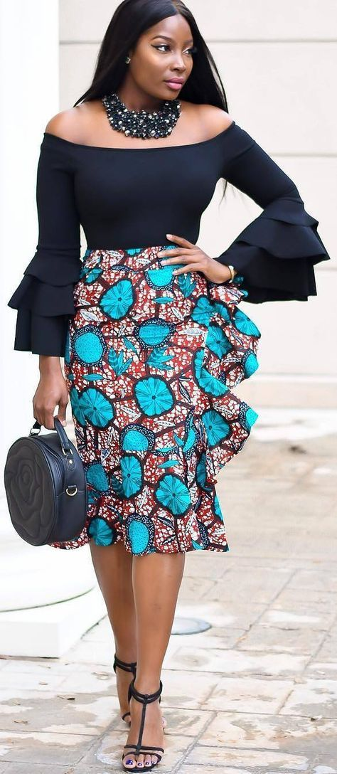 African print skirt, African fashion, Ankara, kite…