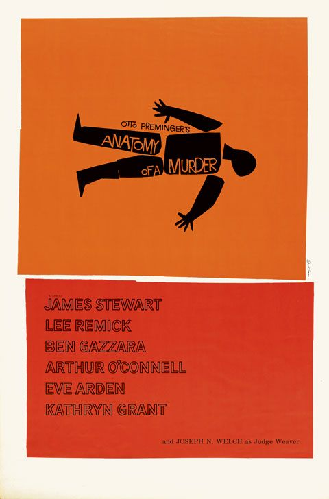 Saul Bass Anatomy of a murder (1959) One sheet movie poster