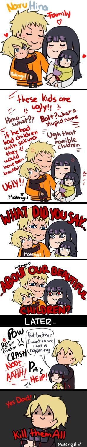Naruto, Hinata, Bolt and Himawari