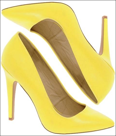 Pumps: Yellow Pumps, Bananas Pumps, Pumps Heels, Bananas Yellow, Green Dress, Yellow Shoes, Yellow Heels, Classic Pumps, Bananas Colors Heels