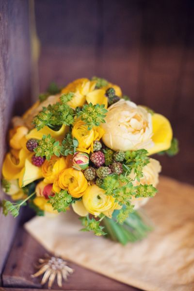 Yellow Ranunculus Bouquet, photographed by Jodi Miller Photography!