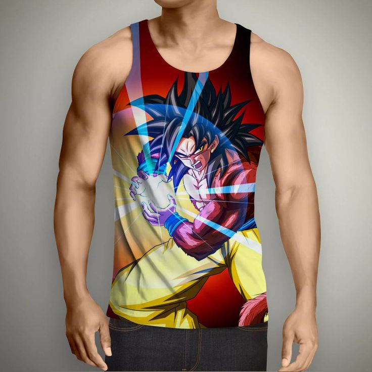 Camiseta Tirantes Culturismo de Dragon Ball para hobre. Camiseta Bola de Dragon. (Monstruo BU) UtS96Mj38