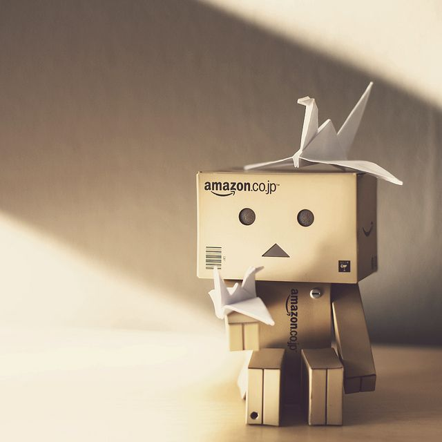 Lonely Danbo does origami...