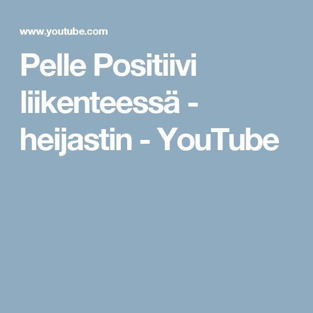 Pelle Positiivi liikenteessä - heijastin - YouTube