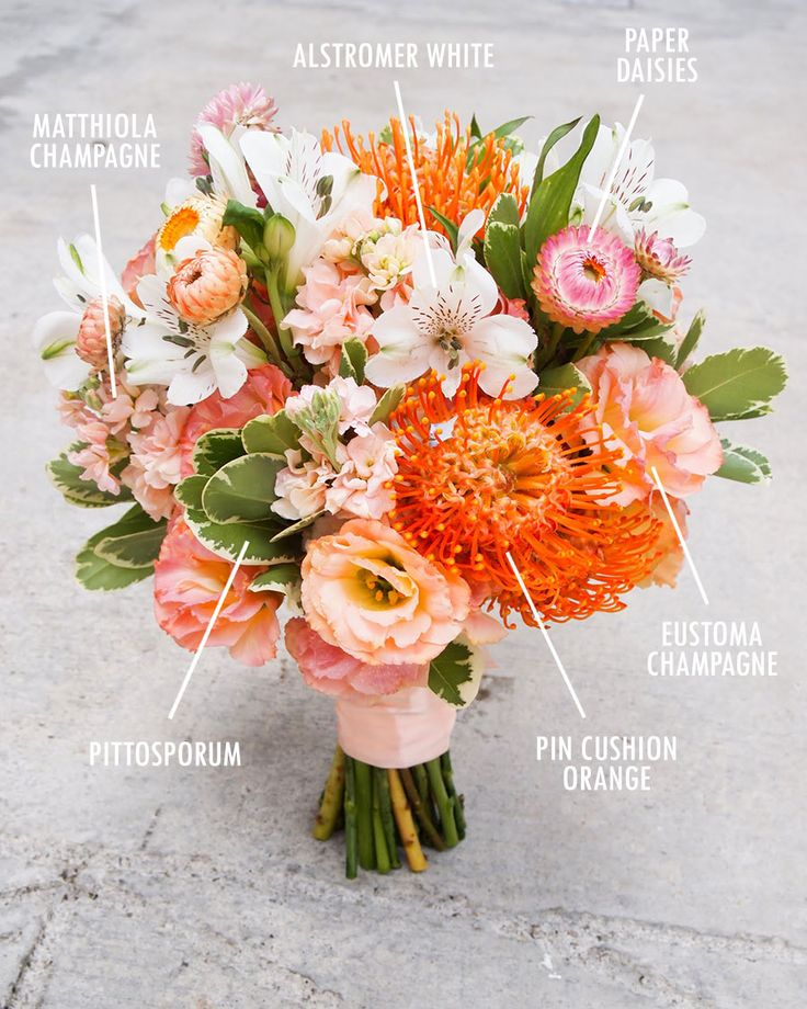 The Wedding Scoop's Floral Bouquet Recipes by Colour {Facebook and Instagram: theweddingscoop}