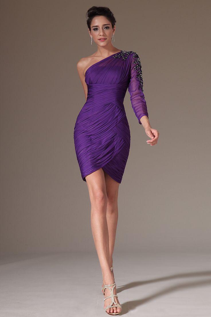 Long-Sleeve-Cocktail-Dress-Purple
