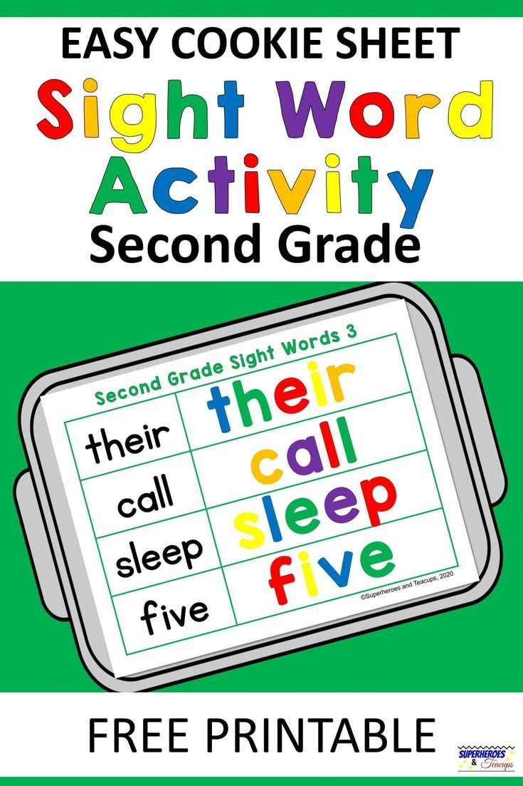 medium resolution of Easy Cookie Sheet Second Grade Sight Word Activity in 2020   Second grade  sight words