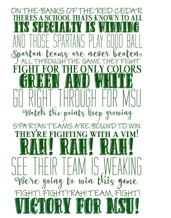 Michigan State University Fight Song