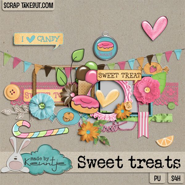 Sweet Treats elements http://scraptakeout.com/shoppe/-Made-By-Keuntje/