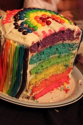 Raibow Birthday Cake