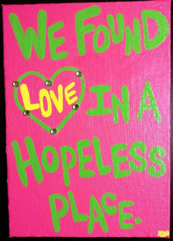 Hopeless acrylic painting-5x7 canvas