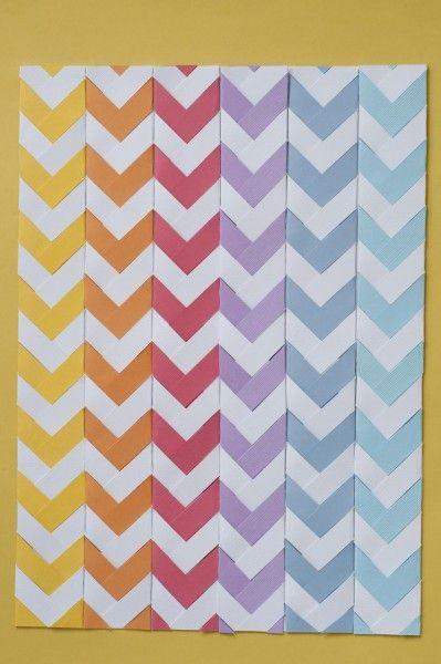 chevron paper folding