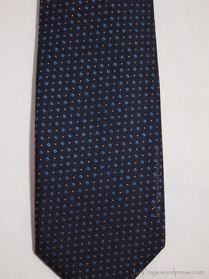 Navy Patterned Tie $12