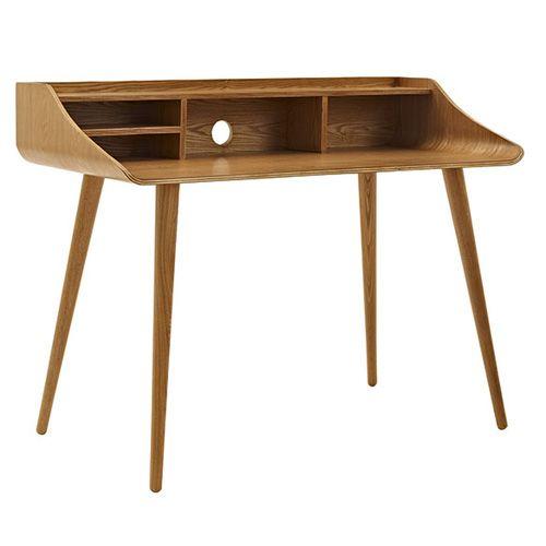 Dieser Schreibtisch ist einem Sekretär aus dem New York der 60er-Jahre nachempfunden und würde sich auch in unseren Wohn- und Arbeitszimmern gut machen. Über Octopus, um 300 Euro.