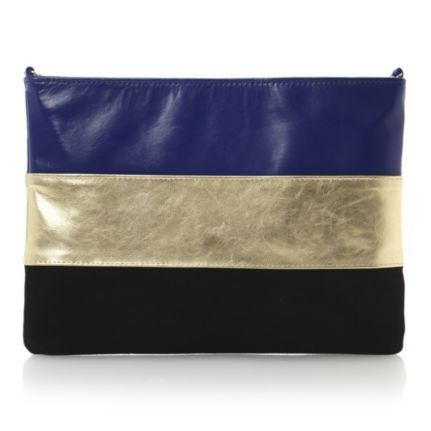 Leather Statement Clutch - lights watercolour by VIDA VIDA gVIUBV