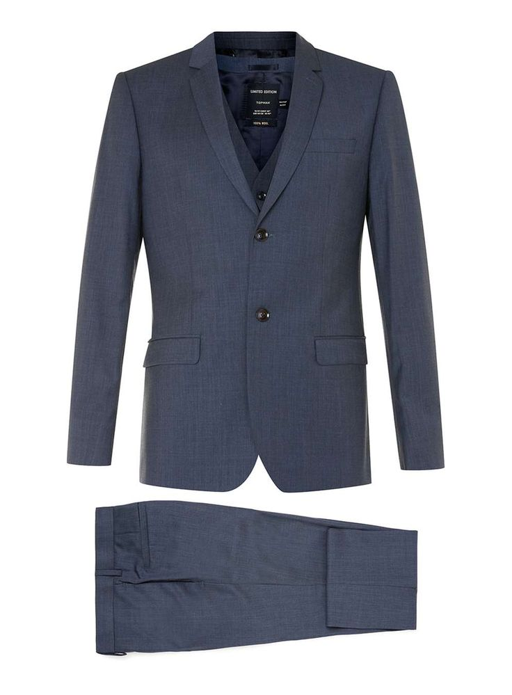 Limited Edition Navy Skinny Fit Three Piece Suit