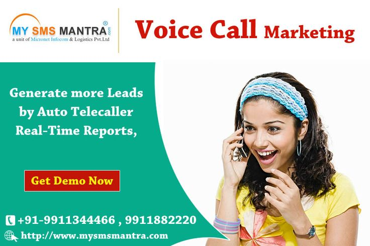 Bulk Voice Call Marketing is used for generate more leads by Auto Tele caller -  Real-Time Reports - Send alert, marketing, product and services more... # Get your Demo Now # https://goo.gl/bwBvf
