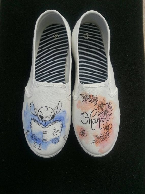 Disney Lilo And Stitch Ohana Themed Shoes by Brinkadoodle on Etsy