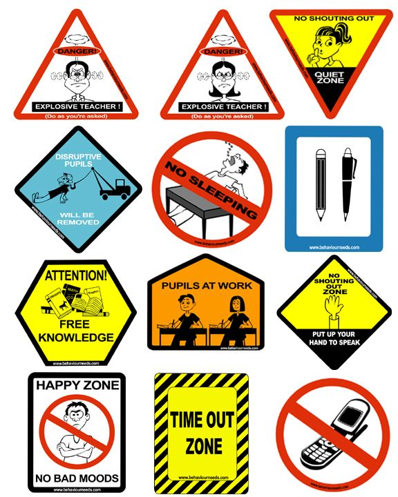 Posters for classroom behavior
